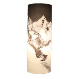 Lichtsäule Monochrome / Alpenglühen