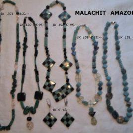 Ketten Malachit & Amazonit