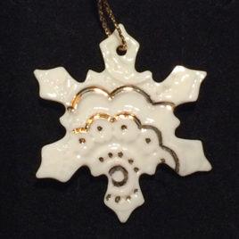 Porzellan-Schneeflocke